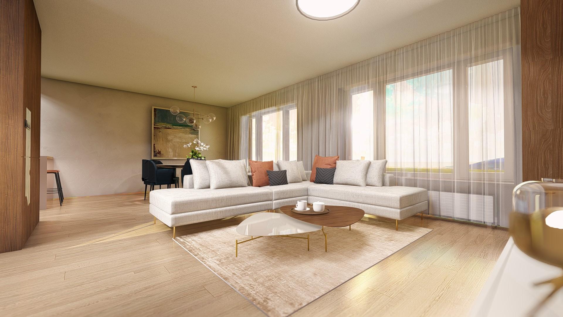 4 izbový strešný byt Bory Bývanie 2